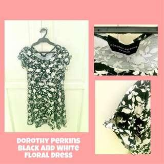Dorothy Perkins Black and White Floral Dress