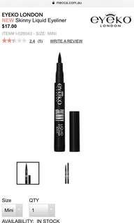 eyeko London skinny liquid eyeliner mini size