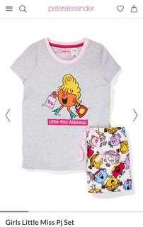 peter alexander girls little miss pyjama top