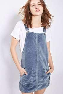 velvet overall/dungaree dress