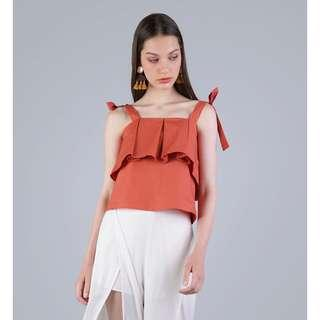 TTR Jemma Ribbon Top (Tangerine)