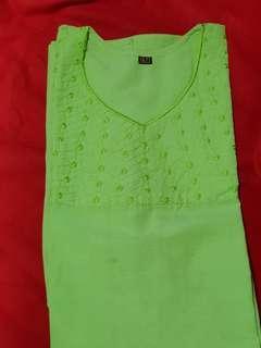 🚚 Beautiful green kadhai kurti