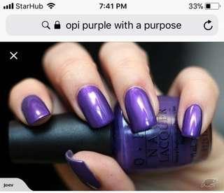 OPI Nail Polish Lacquer Purple with a Purpose