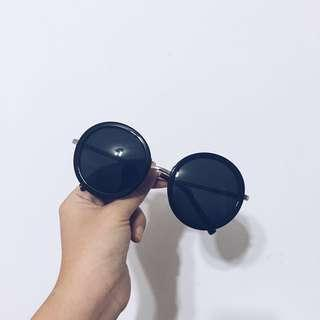 🚚 #一百均價 墨鏡🕶️ 基本款圓形黑色鏡片
