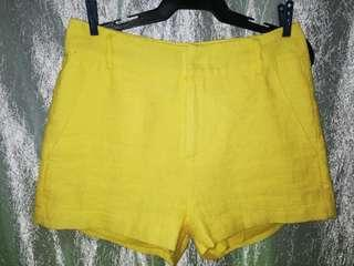 Highwaist yellow short