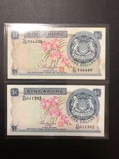 Orchid Series $1 notes nice no:344448(2 pieces)