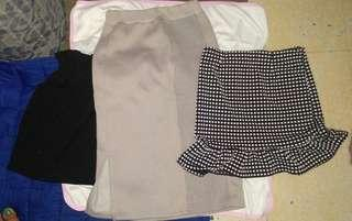 Office A-line skirt bundle