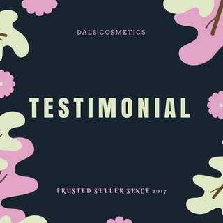 Testimonial Part 9 @dals.cosmetics / EMINA / Wardah / Maybelline / The body Shop / Victoria Secret / Sephora / hnm / Forever21