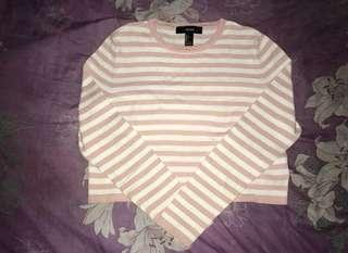 Forever 21 stripped long sleeves (cropped)