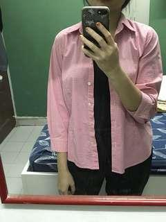 Checkered Pink Shirt