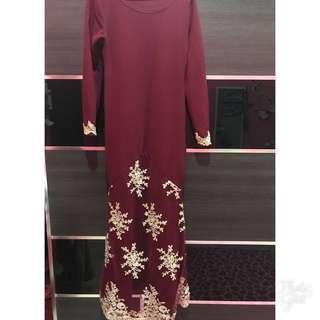 Maroon Long Dress 👗 #CNY888 #CNYRED