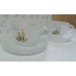 彼得兔花茶系列對杯(附盤)