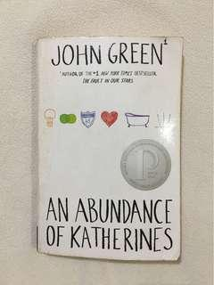 An Abundance of Katherines by John Green