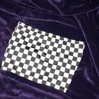 棋盤格平口衣
