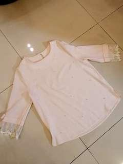🚚 全新蕾絲淑女珍珠上衣 #百元均價