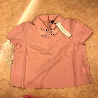 全新 日本牌子 Spiral Girl 玩味粉色上衣 日本購回 HKD 80