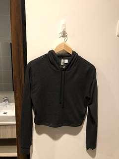 H&M crop hoodie