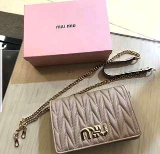 BN Miu Miu crossbody shoulder bag