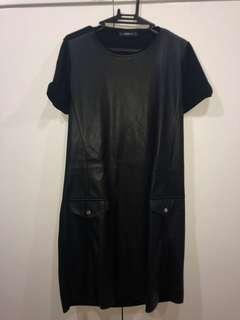 Authentic Zara Leather Dress