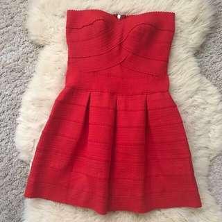 Sexy red bandage Tube Dress