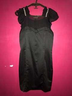 Silky Pearl Little Black Dress