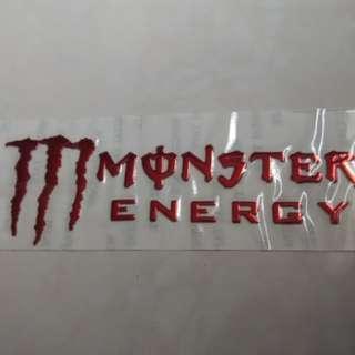 Flexible 3D Monster energy 15CM sticker