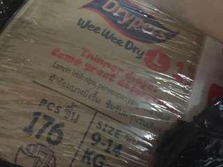 Drypers wee wee diaper Size L