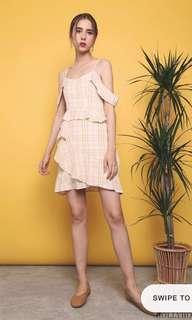 Hollyhoque Vandetta Checkered Dress (Yellow)