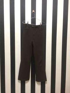 Brown Long Pant Vintage Wide Leg | Celana Cutbray Coklat
