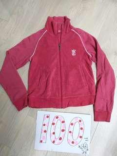 🚚 EMB專櫃桃紅色毛巾布材質外套XS二手#一百均價