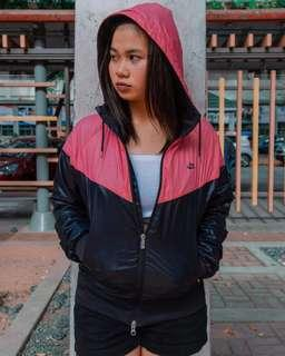 Black and pink nike jacket