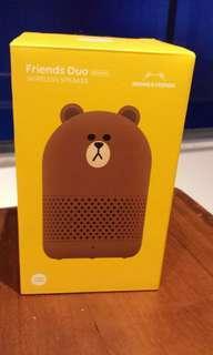 Line Friends brown wireless speaker 全新無線喇叭,100 % new