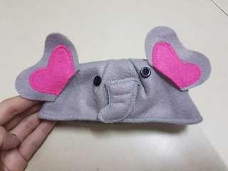 DOLL BABY ELEPHANT HAT - SUITABLE FOR 30CM HEAD