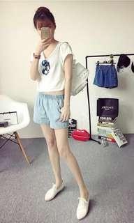 BNIB Denim Shorts, light blue