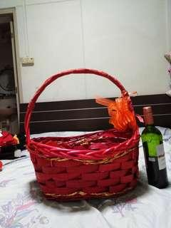 2x Hamper Basket for both red & yellow