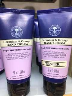 英國倫敦柯芬園有機保養品牌/Neals yard /organic/護手霜handcream/Germanium&orange/mint&bergamot