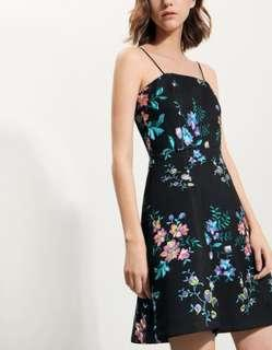 BNWT Saturday Club Strappy Fit-Flare Dress In Floral Print Size XS
