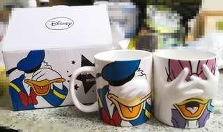 唐老鴨 & 黛絲 杯 / Donald Duck & Daisy Duck Mug / 遮面 / 立體 / 情侶