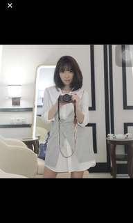 Zara Wrap Shirt Dress (Grey)