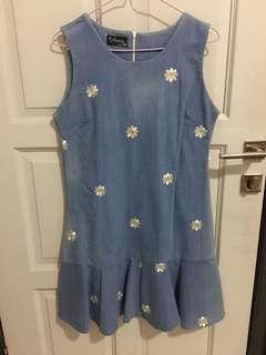 Women dress daisy bunga vintage