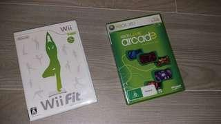 Xbox 360 & wil fit 2隻games