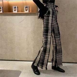 🚚 小香風高腰修身長褲