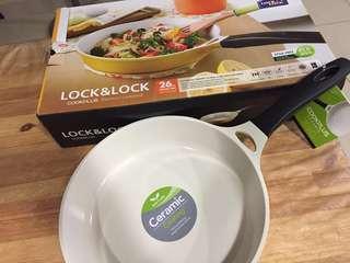 NEW Lock & Lock Cookplus 26cm Ceramic Frying Pan