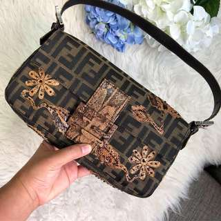 cd53e31f7 Good Deal!❤ Limited Edition Fendi Baguette in Zucca Canvas