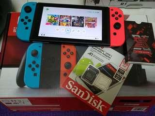 Nintendo Switch jailbreak mod set + sx pro + 128GB SD card full games (No Nego)