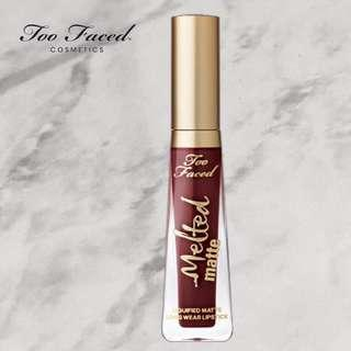 """Too Faced Melted Matte Liquid Lipstick in """"Drop Dead Red"""""""