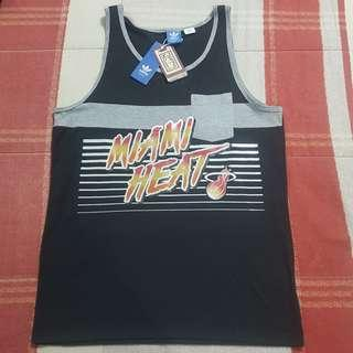 Legit BNWT Adidas NBA Miami Heat Men's Tanktop T-Shirt M