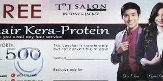 Tony and Jackey T&J Keratin Hair Voucher