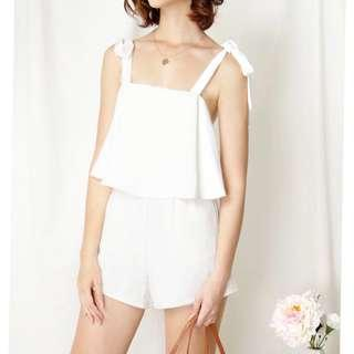 AWD Adventure Tie Shoulders Romper (white)