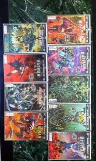 Complete set of Dark Knights metal one shot foil covers